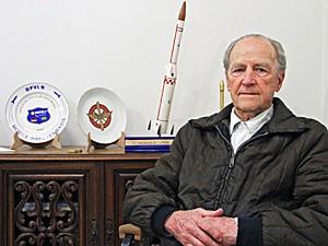 Major-brigadeiro Hugo Piva, considerado o pai do programa espacial brasileiro (Foto: Carlos Santos/G1)