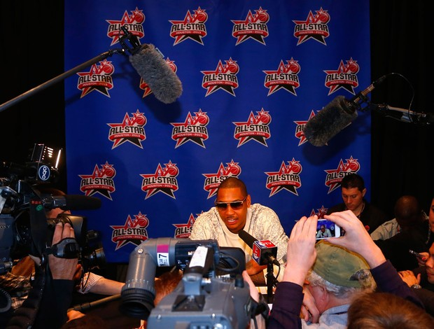 carmelo anthony coletiva All Star Games (Foto: Reuters)