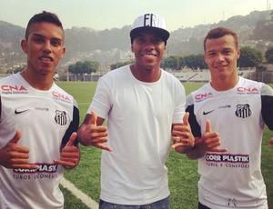 Robinho visita CT do Santos (Foto: Reprodução / Instagram)