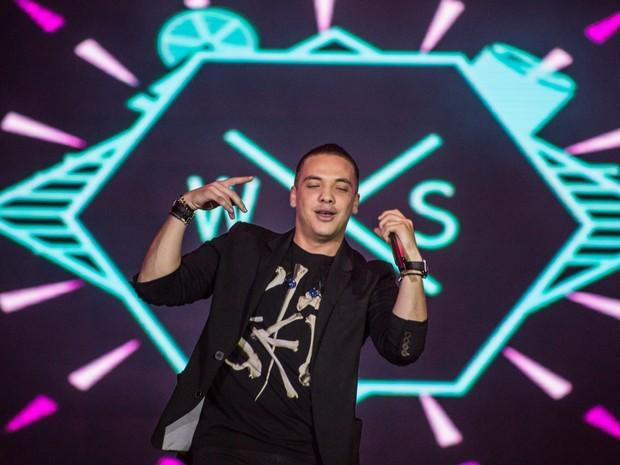 O cantor Wesley Safadão comandou um show dançante na Arena de Barretos (Foto: Mateus Rigola/G1)