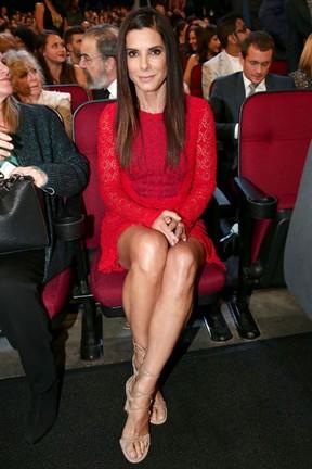 Sandra Bullock em premiação em Los Angeles, nos Estados Unidos (Foto: Christopher Polk/ Getty Images/ AFP)