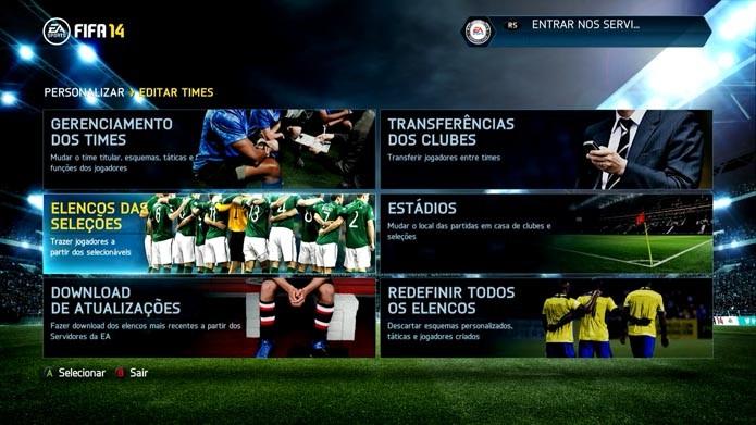Fifa 14: como convocar sua própria seleção no jogo de futebol (Foto: Reprodução/Murilo Molina)