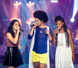 Clara Lima, Lia Gomes e Malu Cavalcanti brilharam cantando Marisa Monte (Foto: Isabella Pinheiro/Gshow)