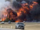 Pelo sétimo dia, incêndios avançam na região canadense de Fort McMurray
