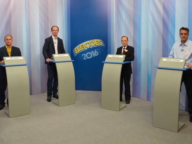 Candidatos à Prefeitura de Varginha fazem debate na EPTV Sul de Minas (Foto: Régis Melo / G1)