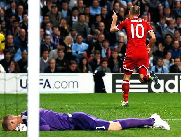 Robben gol Bayern de Munique contra Manchester City (Foto: Reuters)