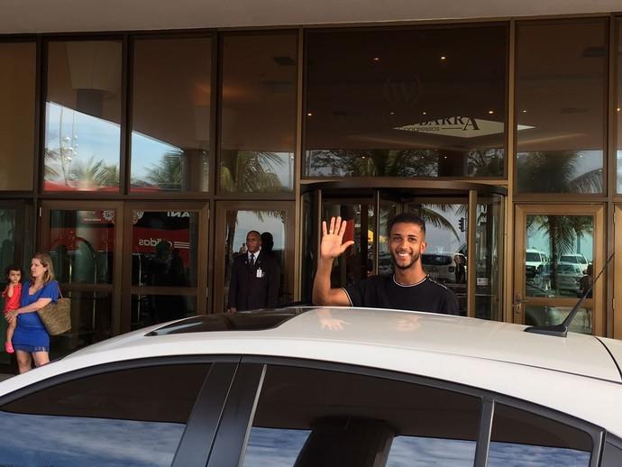 Jorge se despede do Flamengo (Foto: AMANDA KESTELMAN)