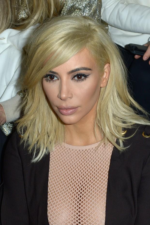 Kim Kardashian no desfile da Lanvin (Foto: Getty Images)