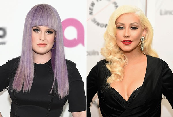 Kelly Osbourne e Christina Aguilera (Foto: Getty Images)