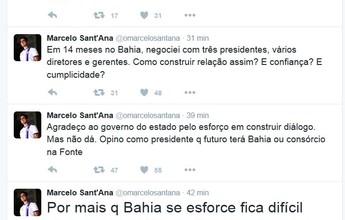 """Marcelo Sant'Ana critica Fonte Nova: """"Casamento com data para acabar"""""""