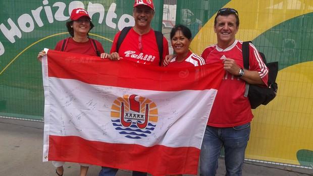 família de taitianos em Belo Horizonte (Foto: Tarcísio Badaró)