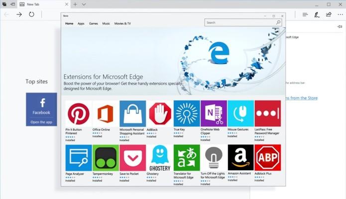 Extensões devem receber melhorias com mais APIs para desenvolvedores (Foto:  Divulgação/Microsoft)