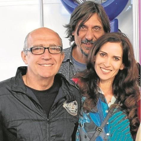 O editor Ivan Pinheiro Machado, Eduardo Bueno e Ingra Lyberato  (Foto: Arquivo pessoal)