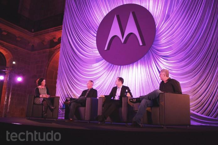 Executivos abrem evento da Motorola no MWC 2014, em Barcelona (Foto: Allan Mello/TechTudo)