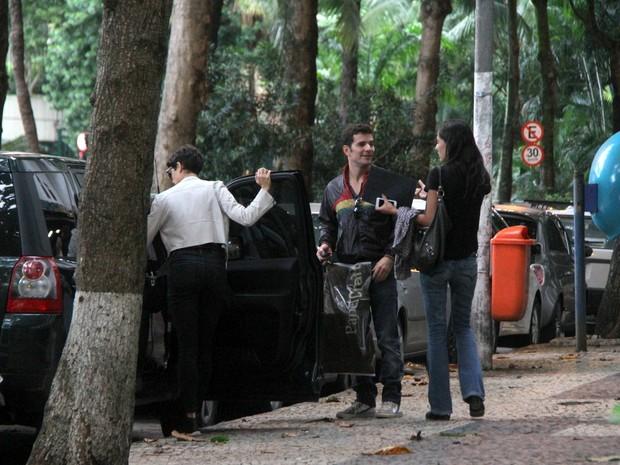Sophie Charlotte e Daniel de Oliveira em shopping na Zona Sul do Rio (Foto: Daniel Delmiro/ Ag. News)
