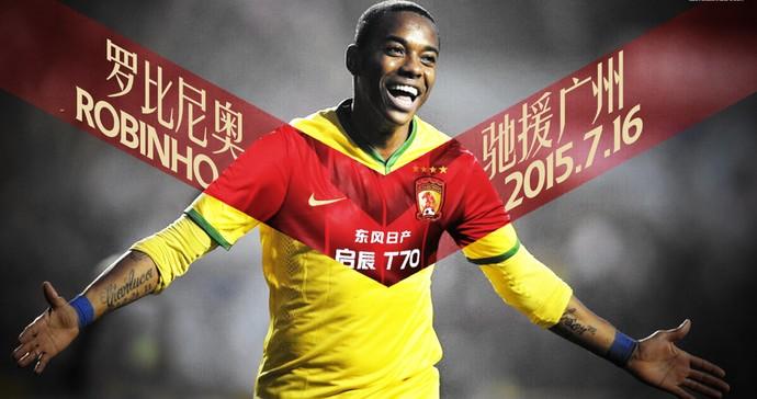 Robinho Guangzhou Evergrande (Foto: Reprodução)