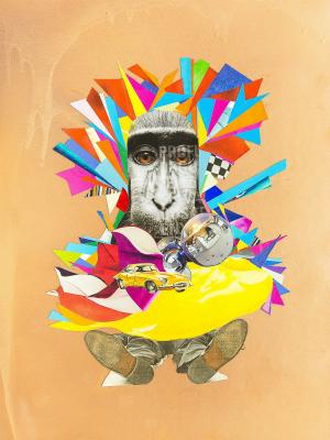 """Obra da exposição """"O Olhar, Estudos e Declarações de Amor"""", de Angela Miracema (Foto: Divulgação/ Fundação de Cultura de Campo Grande)"""