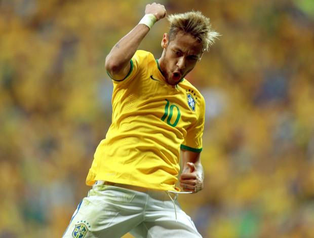neymar segundo gol brasil x camarões (Foto: Jefferson Bernardes/Vipcomm)