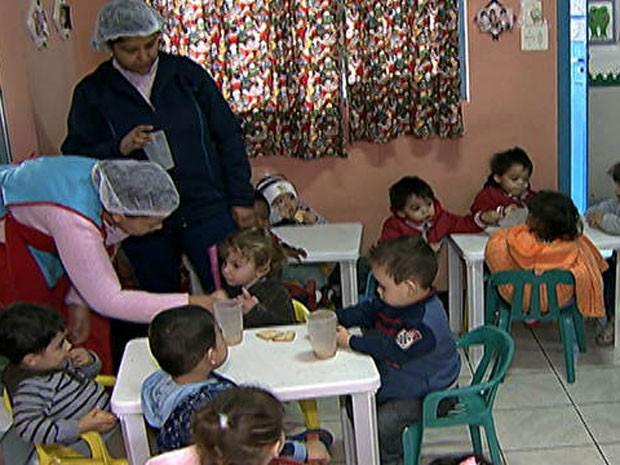 Creche na Zona Leste de São Paulo (Foto: TV Globo/Reprodução)