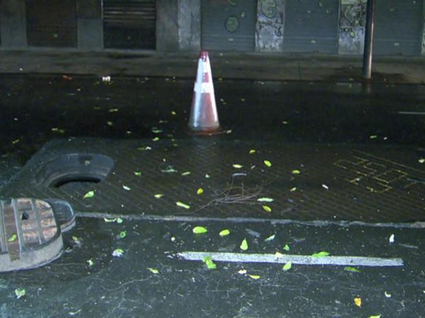 Explosão deixou, pelo menos, oito pessoas feridas. (Foto: Reprodução / TV Globo)