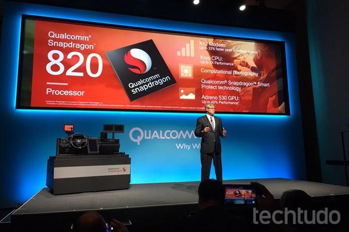Lançado na CES 2016, o Snapdragon 820 já tem substituto na forma do Snapdragon 821 (Foto: Thássius Veloso/TechTudo)