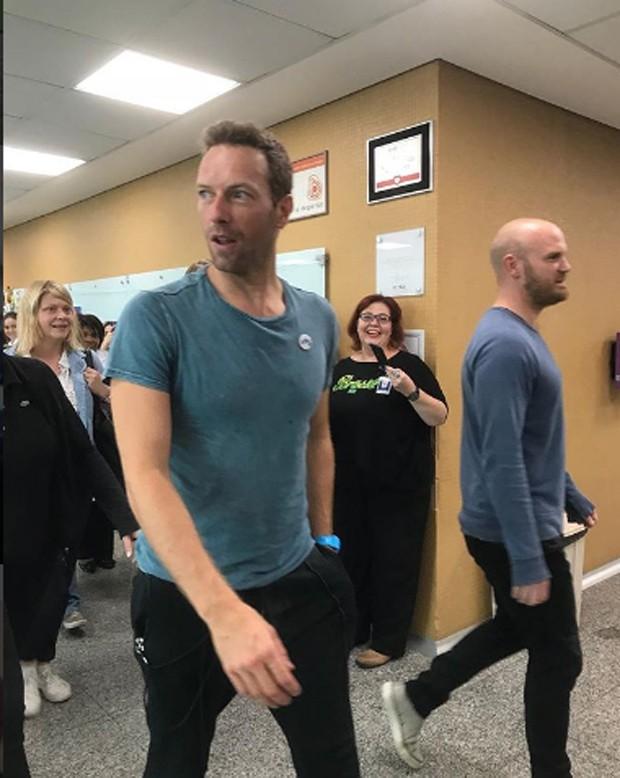 Coldplay no Incor (Foto: Reprodução / Instagram)