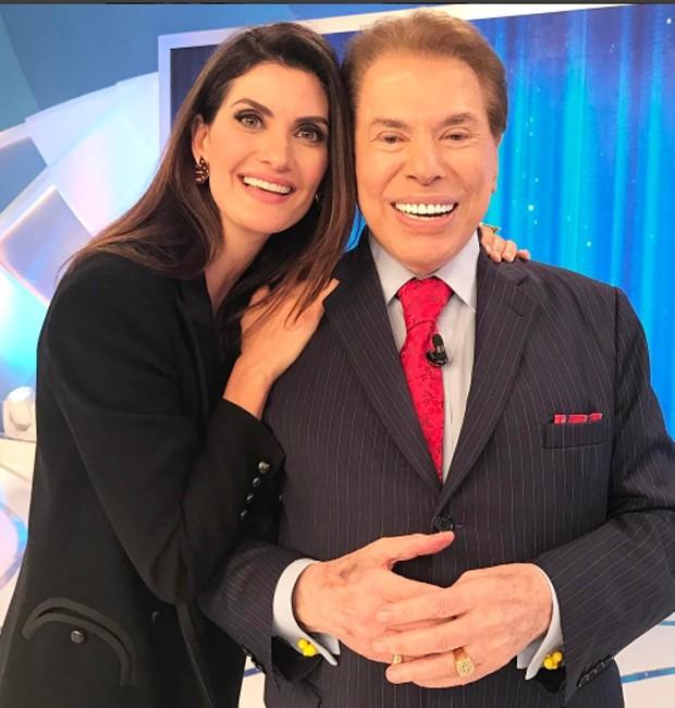 Isabella Fiorentino e Silvio Santos (Foto: Reprodução/Instagram)