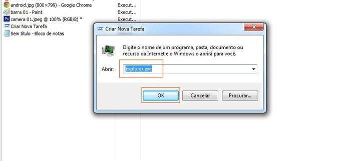 Complete a função no Gerenciador de Tarefas do Windows (Foto: Reprodução/Barbara Mannara)