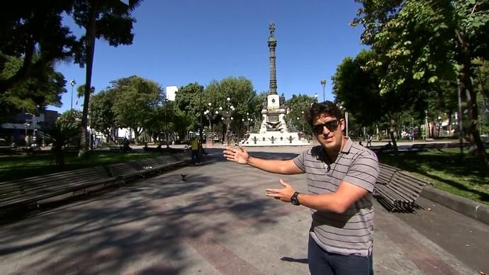 Timbó dá dicas de enquadramento de imagem (Foto: TV Bahia)
