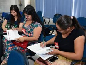 Durante as aulas os alunos aprenderam, por exemplo, a montar um currículo (Foto: Emerson Ferraz)