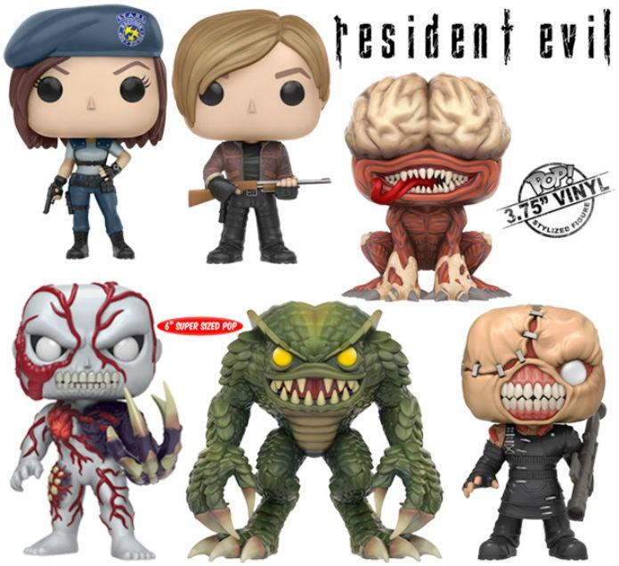 Coleção de Resident Evil da Funko abrange diferentes jogos da série (Foto: Divulgação/Funko)