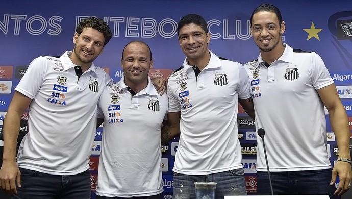 Elano, Léo, Renato e Ricardo Oliveira, Santos (Foto: Ivan Storti/Santos FC)