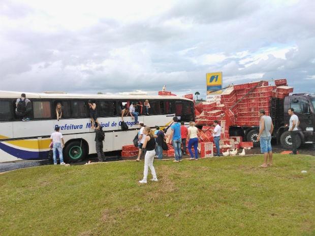 acidente estudantes candói (Foto: Jornal Correio do Povo )