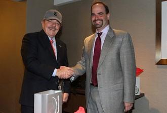 Lula com Michael Greenspon, diretor-geral do serviço de notícias do New York Times.  (Foto: Foto: Ricardo Stuckert/Instituto Lula)
