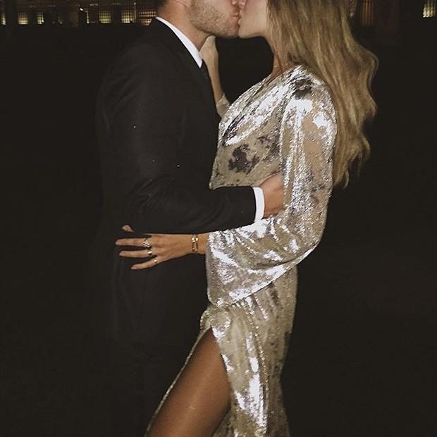 Ed Westwick e a nova namorada, Jessica Michél Serfaty (Foto: reprodução/instagram)