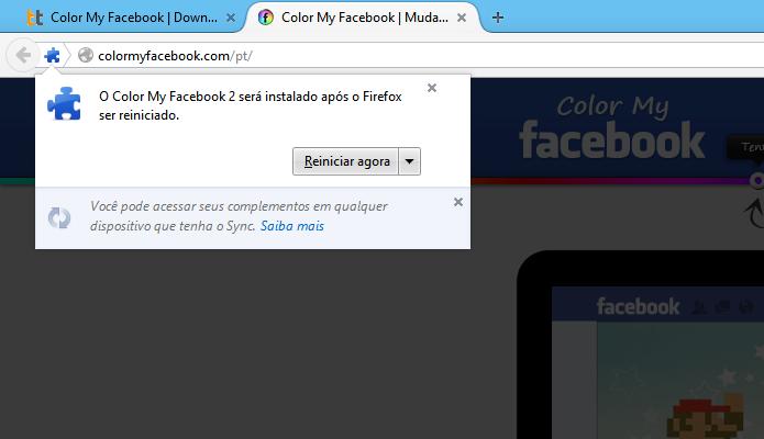 Reinicie o Firefox (Foto: Reprodução/Helito Bijora)