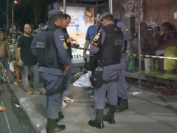 Crime foi na rua Kako Caminha (Foto: Reprodução/Rede Amazônica)
