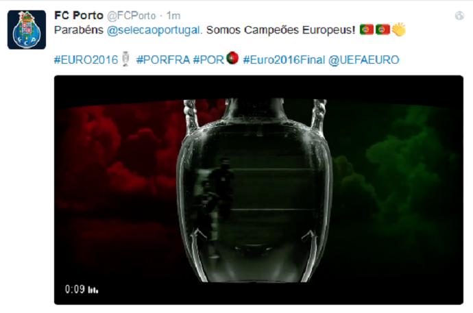 Porto Portugal campeao Euro (Foto: Reprodução)