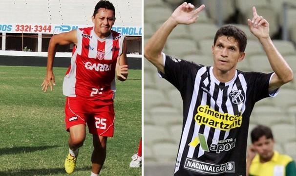 Vavá (Potiguar-RN) e Magno Alves (Ceará) querem seus times na liderança do grupo. (Foto: Guilherme Ricarte e Jarbas Oliveira / reprodução GloboEsporte.com)