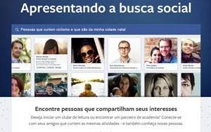 Facebook apresentou busca social em janeiro de 2013 (Foto: Reprodução/Facebook)