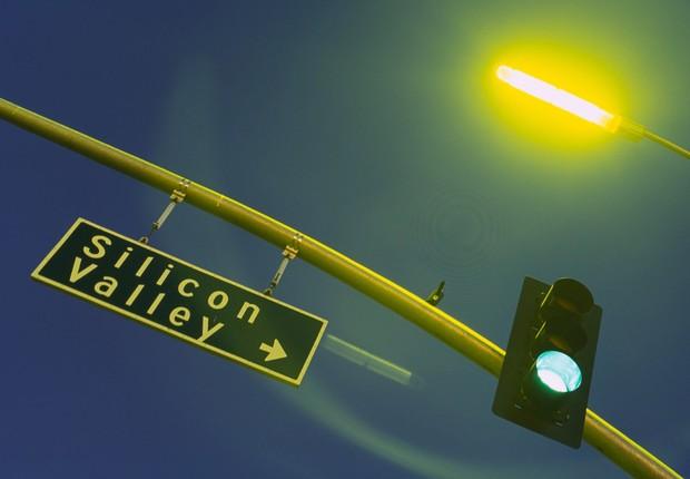 Placa indica direção do Vale do Silício, na Califórnia (Foto: Getty Images)