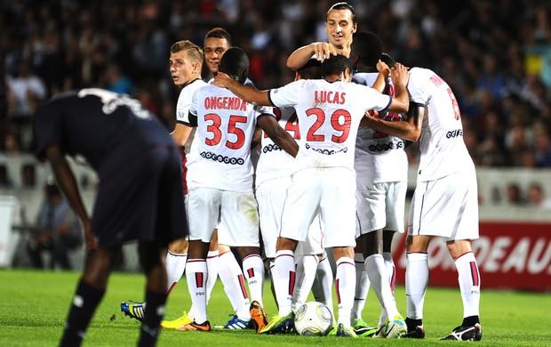 Comemoração Paris Saint Germain contra o Bordeaux (Foto: Agência AFP)