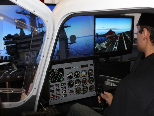 Skyknight, simulador de voos da Bravio. (Foto: Divulgação/Bravio)