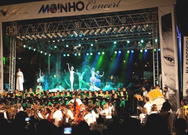 Apresentação do Moinho In Concert emociona público em Corumbá, MS (Foto: TVMO)