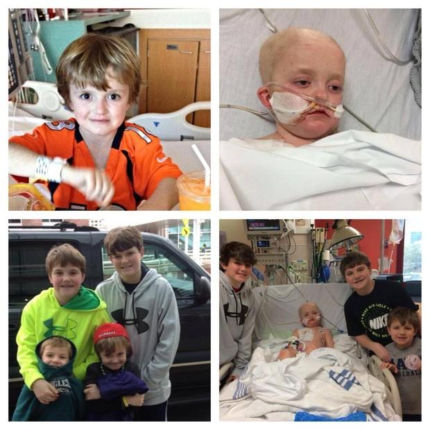 Josh em diversos momentos. Atualmente, ele está internado em um hospital de Memphis, à espera de tratamento adequado (Foto: Reprodução /Facebook)
