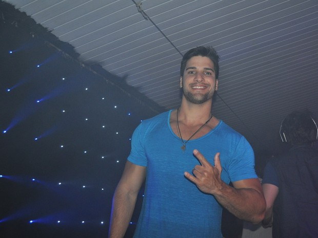 Ex-BBB Marcello Soares em festa no Rio (Foto: Jorge Fernandes/ Divulgação)