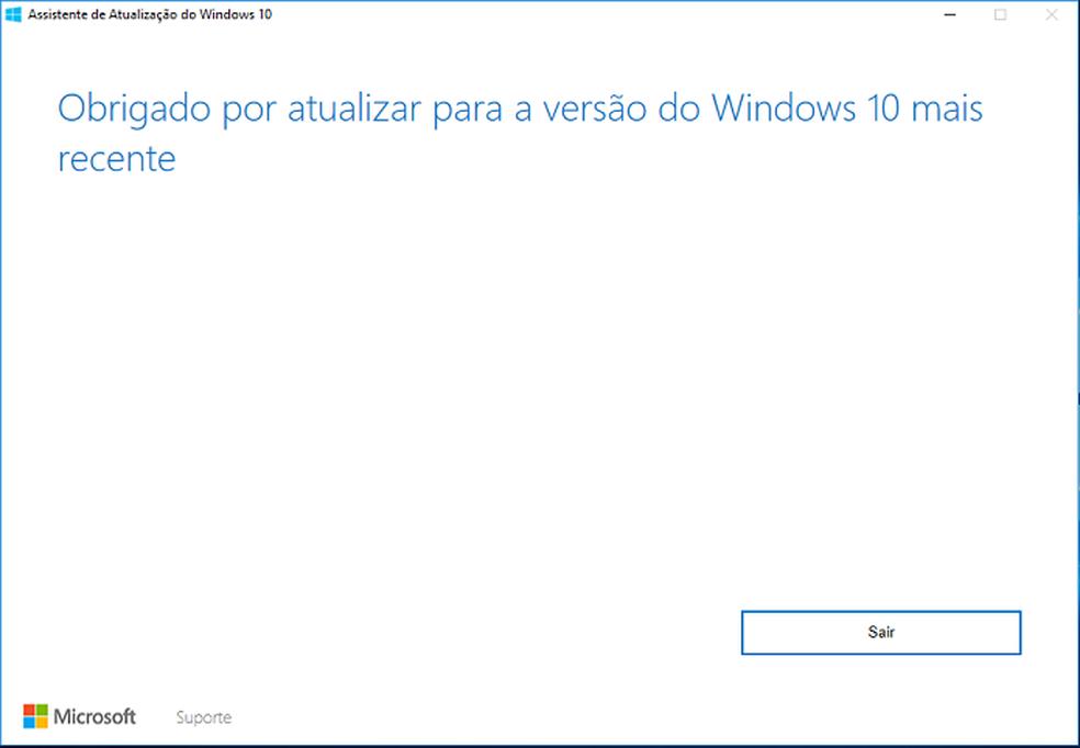 Descubra como usar o Assistente de atualização do Windows 10 (Foto: Reprodução/Edivaldo Brito)
