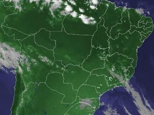 Imagem de satélite capturada na tarde desta terça-feira (27) (Foto: Reprodução/Cptec/Inpe)