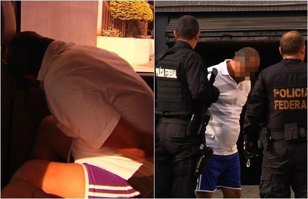 PF cumpre mandados de prisão na Operação Caldeirão, em Goiânia (Foto: Reprodução/TV Anhanguera)