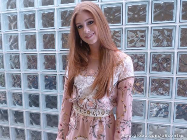Marina Ruy Barbosa sobre Nicole: '`Preciso de foco' (Foto: Encontro com Fátima Bernardes/ TV Globo)